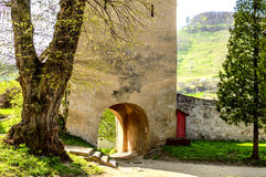 Old entrance to medieval city. Tower entrance to medieval city Stock Image