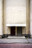 Old entrance to soviet times building Stock Photography