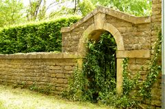 Old entrance to stones. Stock Photo