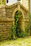 Old entrance to stones . Royalty Free Stock Photos