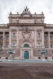 Old entrance to the Swedish Parliament Stock Images