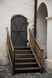 Old entry door in Nauders, Austria Royalty Free Stock Image