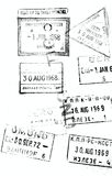 Old Entry and Exit Stamps Royalty Free Stock Photography