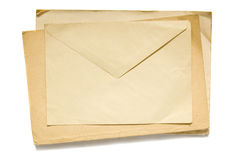 Old envelope Stock Images