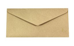 Old envelope. Isolated on a white background Stock Photos
