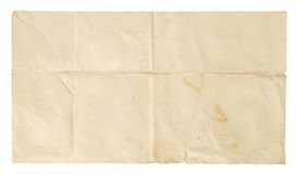Old Envelope. Old worn and creased envelope. Isolated on a white background Stock Image