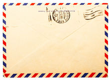 Old Envelope Back Side Royalty Free Stock Images