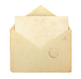 Old envelope with blank card Stock Photos