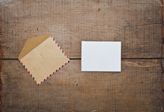 Old envelope and card Royalty Free Stock Photography