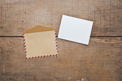Old envelope and card Royalty Free Stock Image
