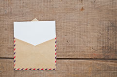 Old envelope and card Royalty Free Stock Photo