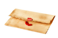 Old envelope close-up Stock Photo