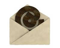 Old envelope with e-mail symbol Stock Photo