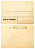 Old envelope front and back Royalty Free Stock Image