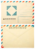 Old envelope front and back Royalty Free Stock Images