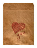 Old envelope with heart Stock Image