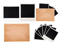 Old envelope with instant photos, set Royalty Free Stock Photo