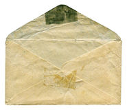 Old envelope isolated Royalty Free Stock Photo