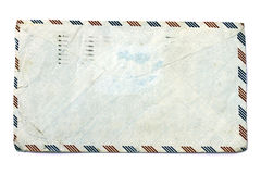 Old envelope isolated on white Royalty Free Stock Images