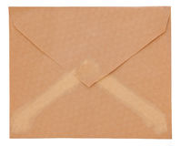 Old envelope isolated on a white background Royalty Free Stock Images