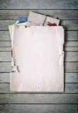 Old envelope with papers Royalty Free Stock Image