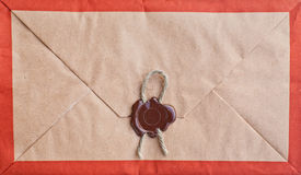 Old envelope with seal. Stock Image