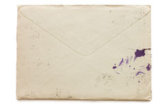 The old envelope soiled by ink Royalty Free Stock Photos