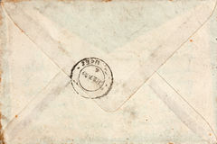 Old envelope with stamp Royalty Free Stock Photos