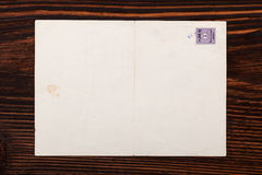 Old envelope with stamp. Royalty Free Stock Image