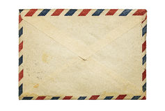 Old envelope. Old, vintage envelope isolated on white background with copy space royalty free stock images