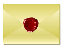 Old envelope with wax seal Royalty Free Stock Photography