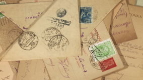 Old envelopes Royalty Free Stock Photo