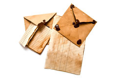Old envelopes and paper Royalty Free Stock Photography