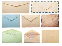 Old envelopes and postcard. Royalty Free Stock Photography