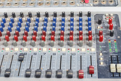 Old equalizer equipment. Royalty Free Stock Photography