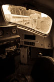 Interior of old locomotive Stock Photo