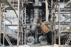 The old equipment at a power plant Stock Images