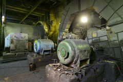 The old equipment at a power plant Stock Photo