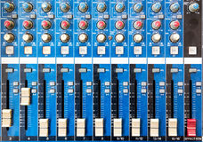 Old equipment or soundboard background, board is a little dusty Royalty Free Stock Photography