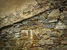 Old eroded stone wall Stock Photo
