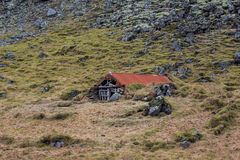 Old eroding barn in Iceland Royalty Free Stock Photo