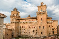 Old Estense Castle in Ferrara, Italy Stock Image