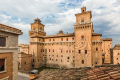 Old Estense Castle in Ferrara, Italy Royalty Free Stock Photography