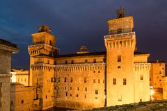 Old Estense Castle in Ferrara, Italy Royalty Free Stock Images