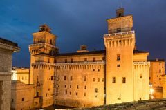 Old Estense Castle in Ferrara, Italy Royalty Free Stock Photo