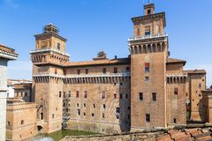 Old Estense Castle in Ferrara, Italy Royalty Free Stock Photos