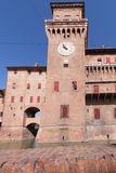 Old Estense Castle in Ferrara in Italy Royalty Free Stock Photography