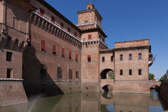 Old Estense Castle in Ferrara in Italy Stock Photos