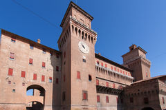 Old Estense Castle in Ferrara in Italy Stock Images