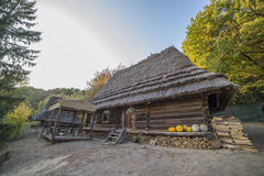 Old ethnic Ukrainian village Stock Images